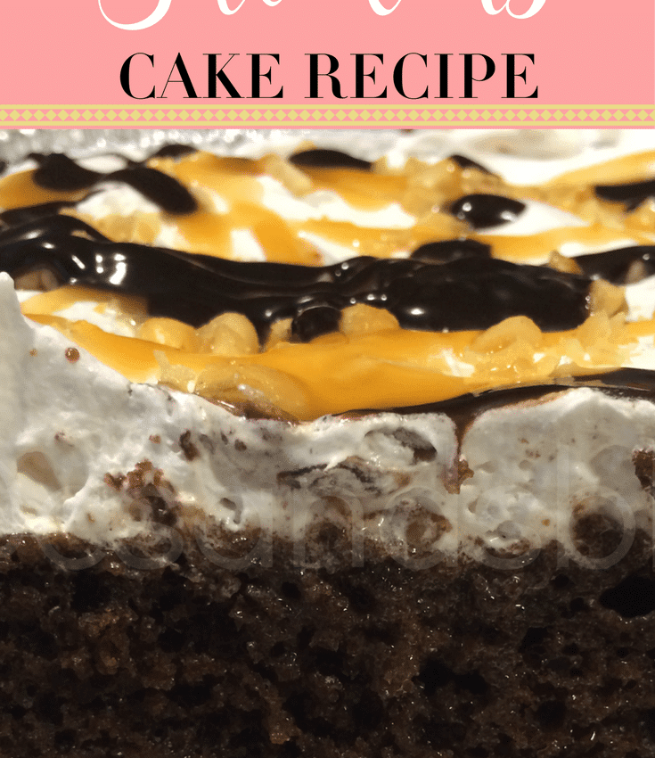 snickers cake recipe