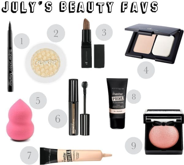July's Beauty Favorites