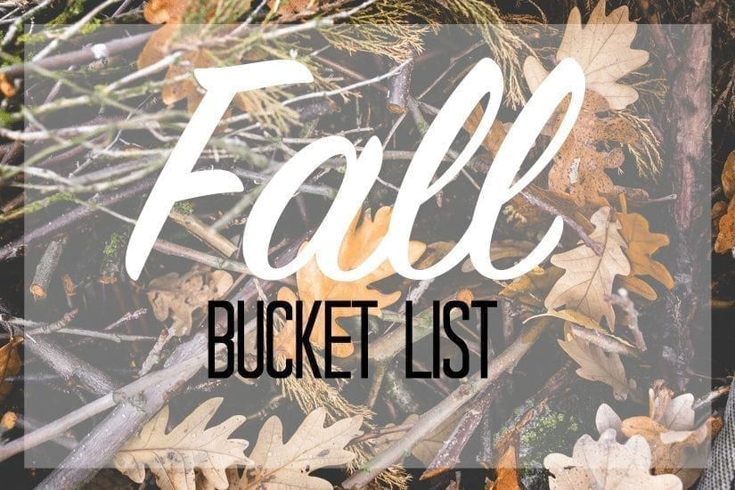 What's on my fall bucket list? Click to find out.