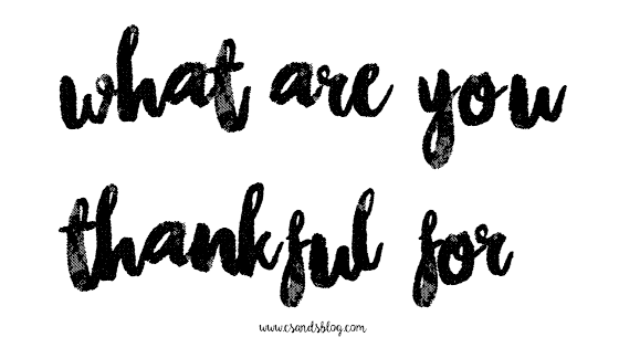 What Bloggers are Thankful For + Giveaway