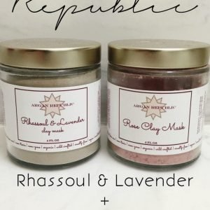 ARGAN REPUBLIC RHASSOUL & LAVENDER + ROSE CLAY MASK