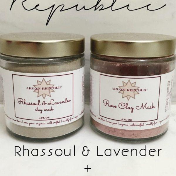 ARGAN REPUBLIC RHASSOUL & LAVENDER + ROSE CLAY MASK