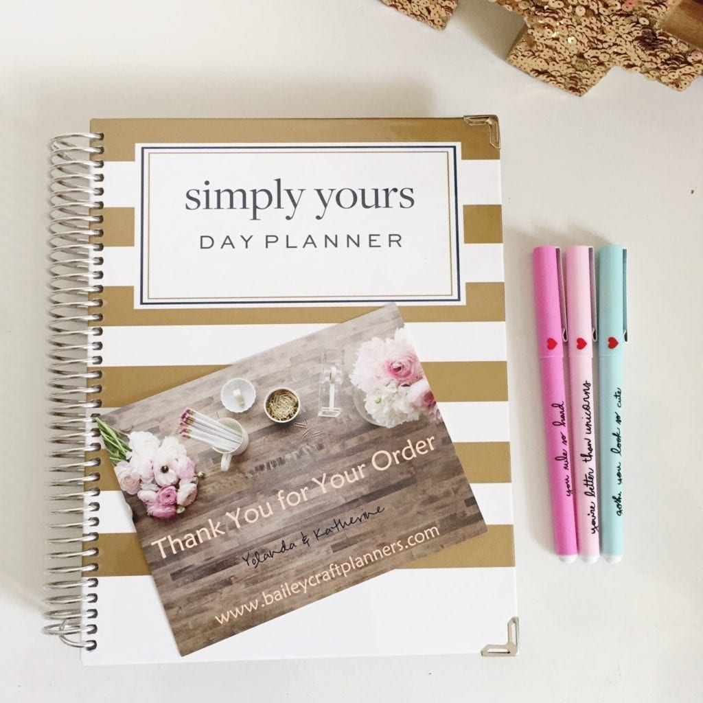 Bailey's Craft Planner - Simply Yours Day Planner