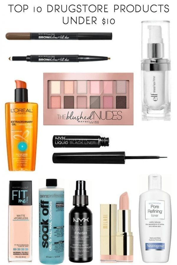 Top 10 Drugstore Products Under $10
