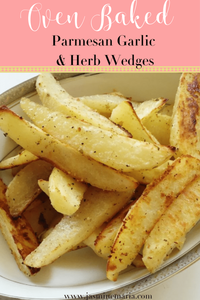 Oven Baked Parmesan Garlic and Herb Wedges
