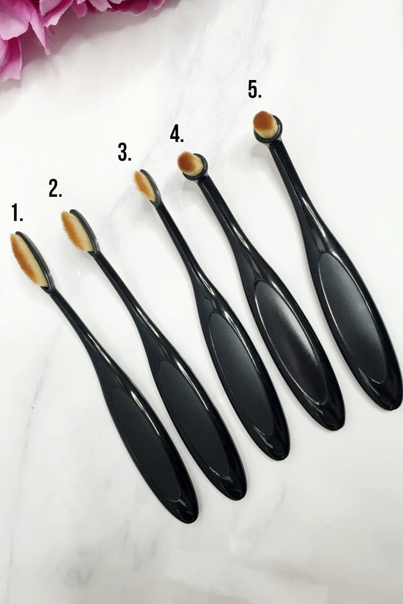 My Makeup Brush Set - Oval Brush Review - Jasmine Maria