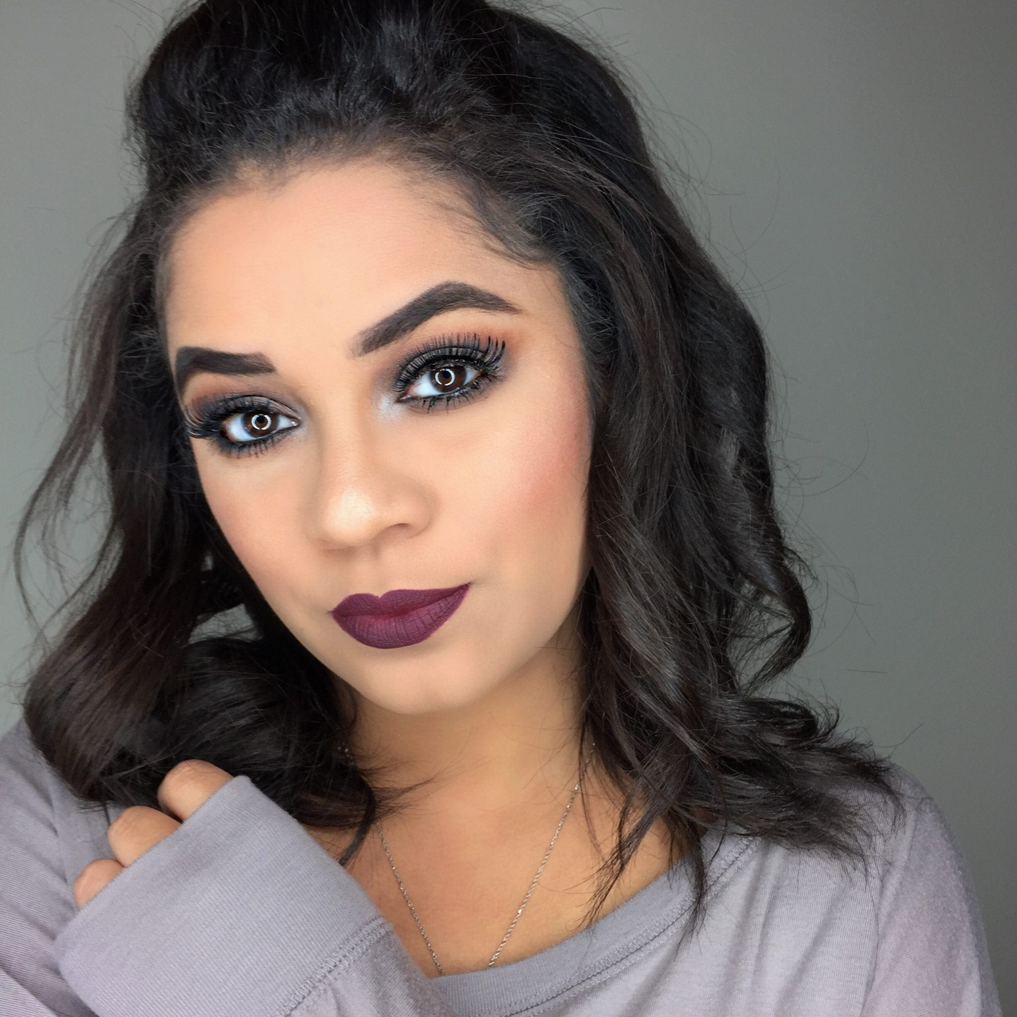 Easy Vampy Fall Makeup Look With Clear Eyes Jasmine Maria