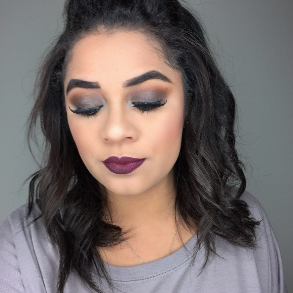 Easy Vampy Fall Makeup Look with Clear Eyes