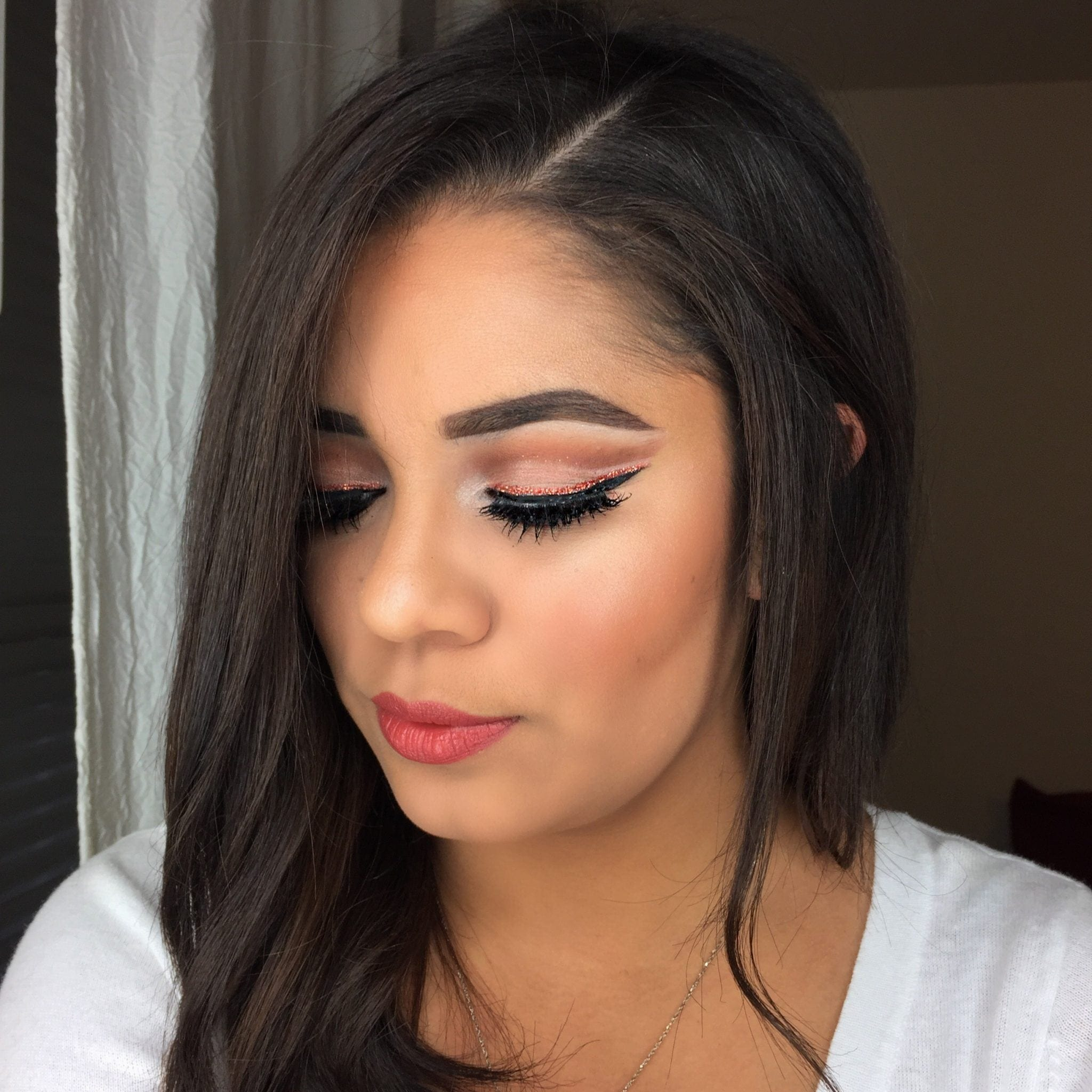 Copper Holiday Makeup