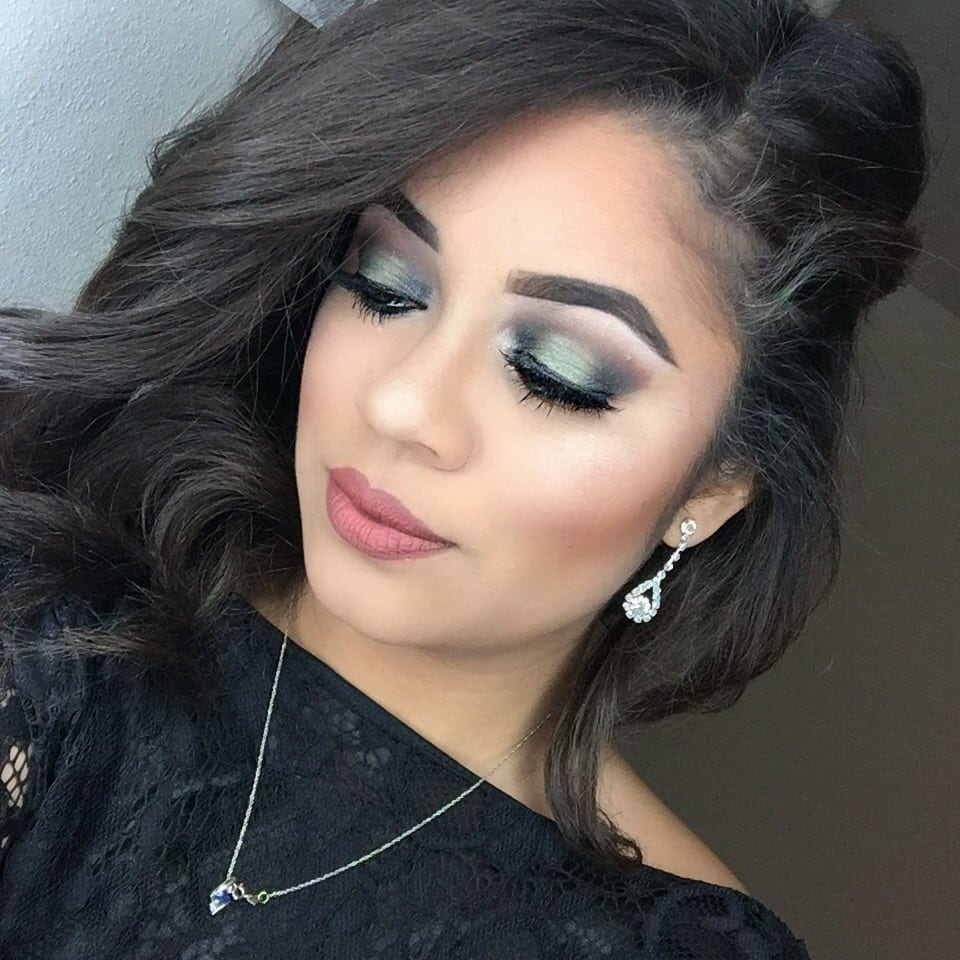 Green Halo Holiday Makeup