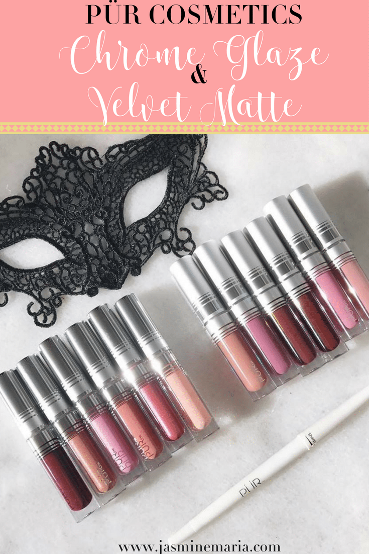 PÜR Cosmetics Chrome Glaze + Velvet Matte Lipsticks