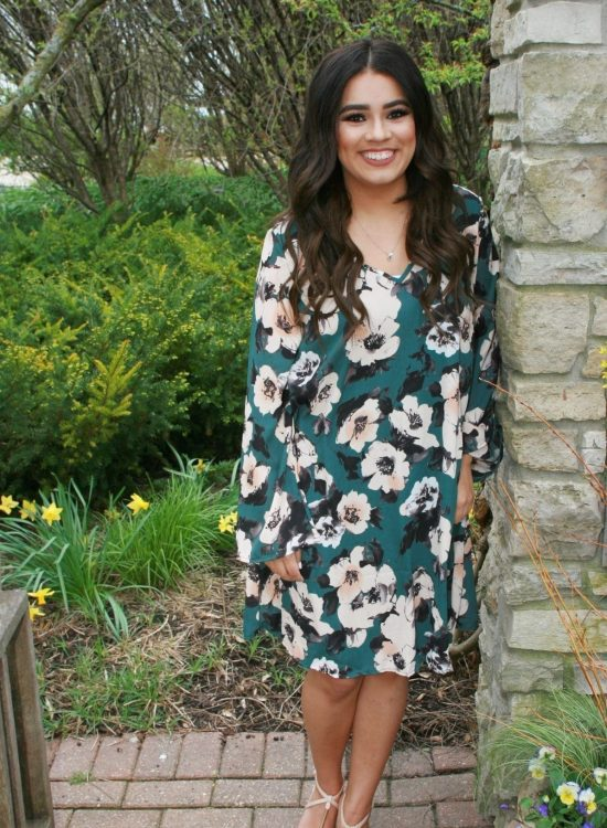 Mother's Day Dress with Pink Blush