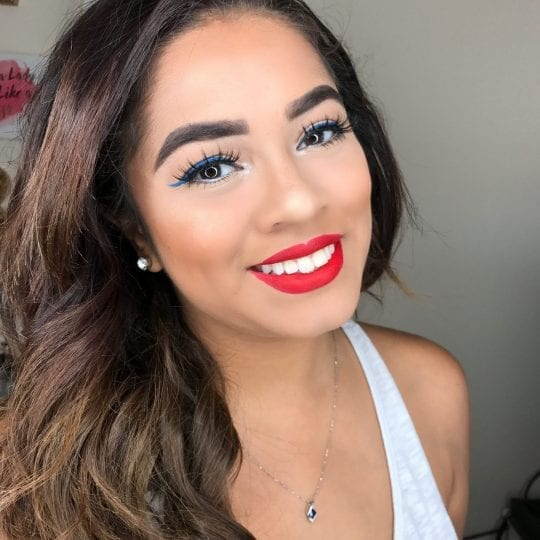 Holiday Makeup: Easy Red White and Blue