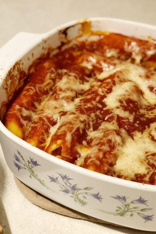 Cheesy Manicotti with Stella Cheese