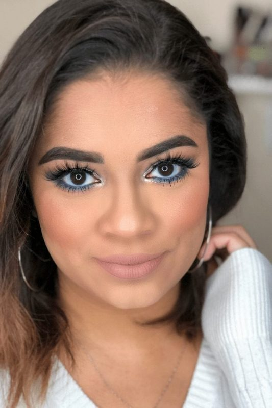 Holiday Beauty   Blue and Silver Eye Look
