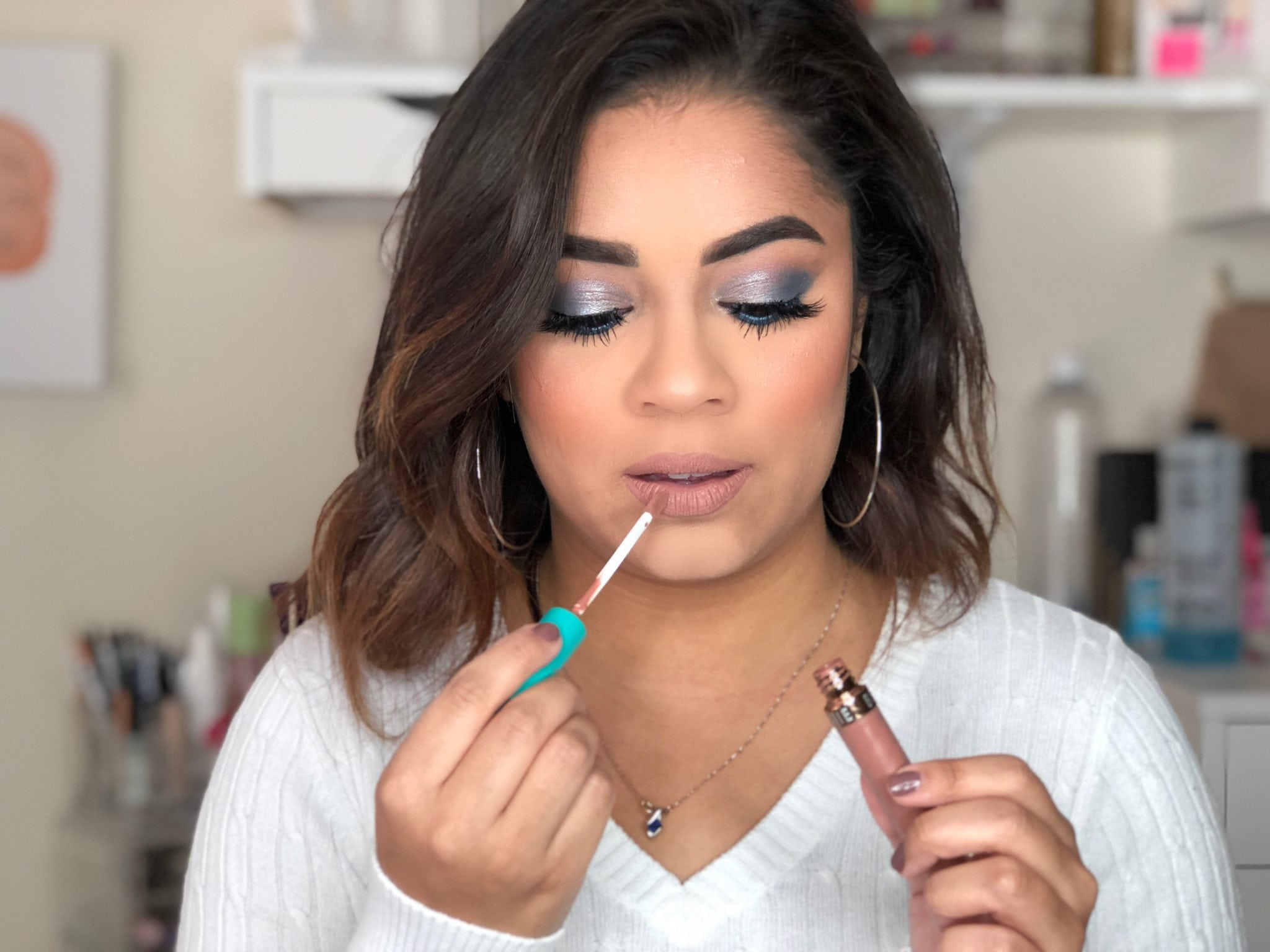 Holiday Beauty | Blue and Silver Eye Look