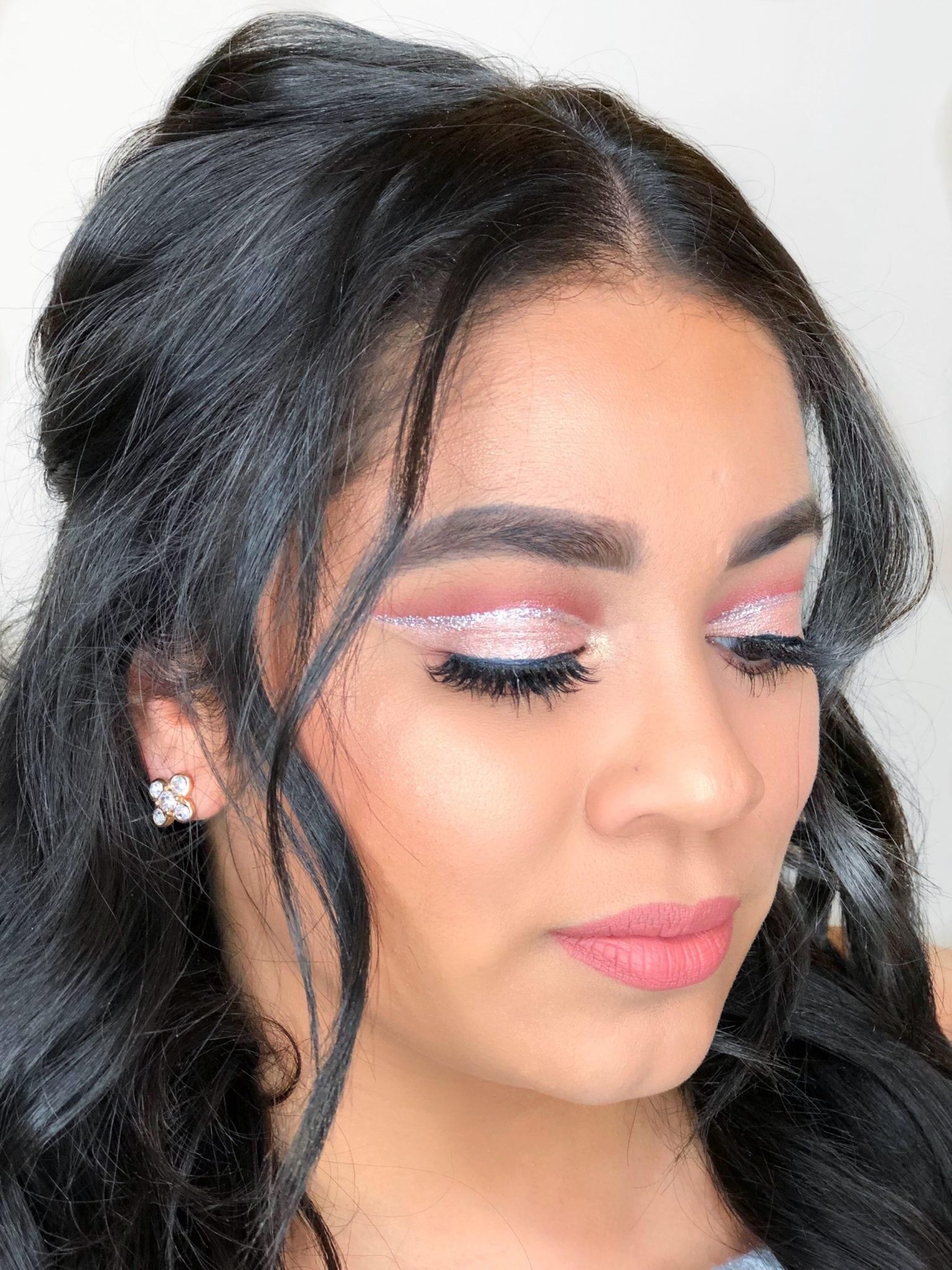 Red and Pink Cut Crease Valentine's Day Makeup