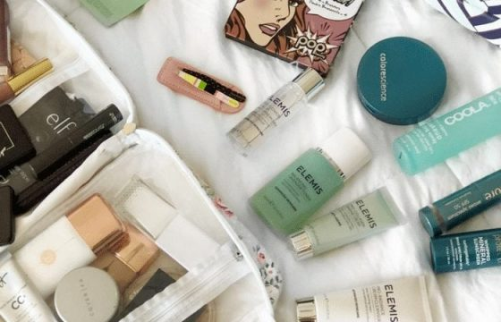 Skincare + Makeup I Packed for Vacation
