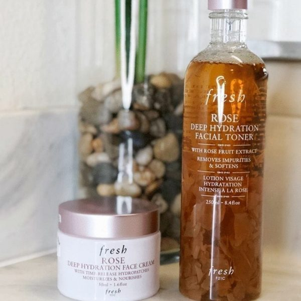 Fresh Beauty Rose Toner and Face Cream