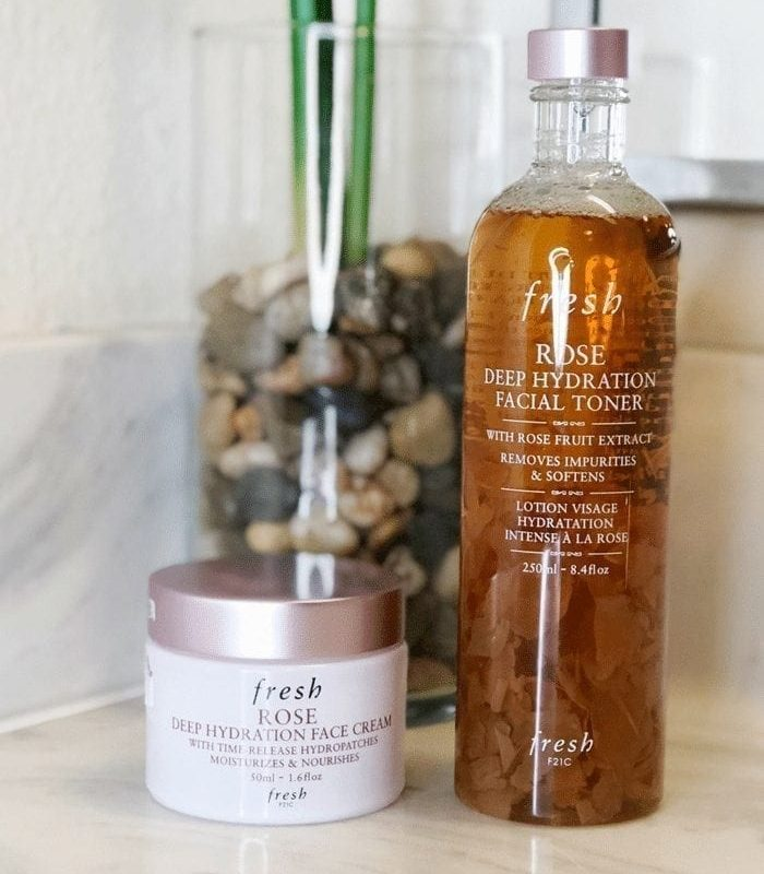 Fresh Beauty Rose Toner and Rose Face Cream