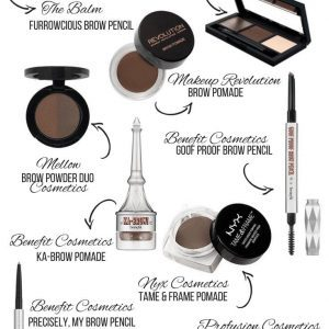 Most Used Eyebrow Products