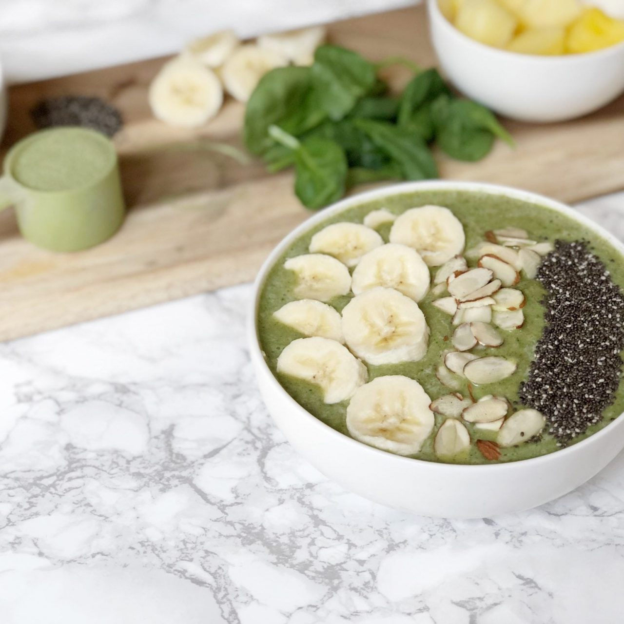 Protein Smoothie Bowl for Healthy Skin, Nails, and Hair