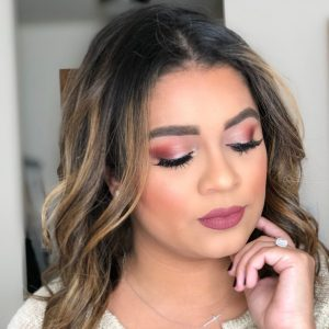 Burgundy Fall Makeup Look