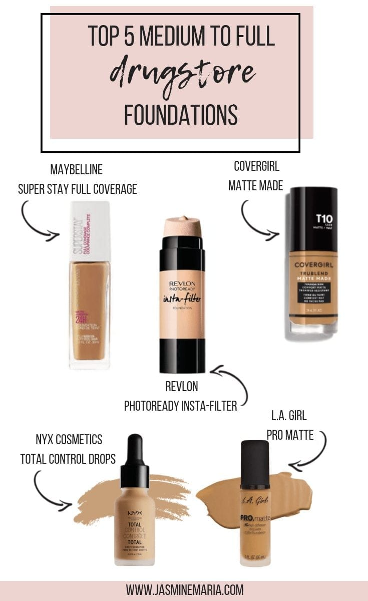 Top 5 Medium To Full Coverage Drugstore Foundations Jasmine Maria Revlon Photoready Insta Filter Ivory Now Tell Me What Is Your Favorite