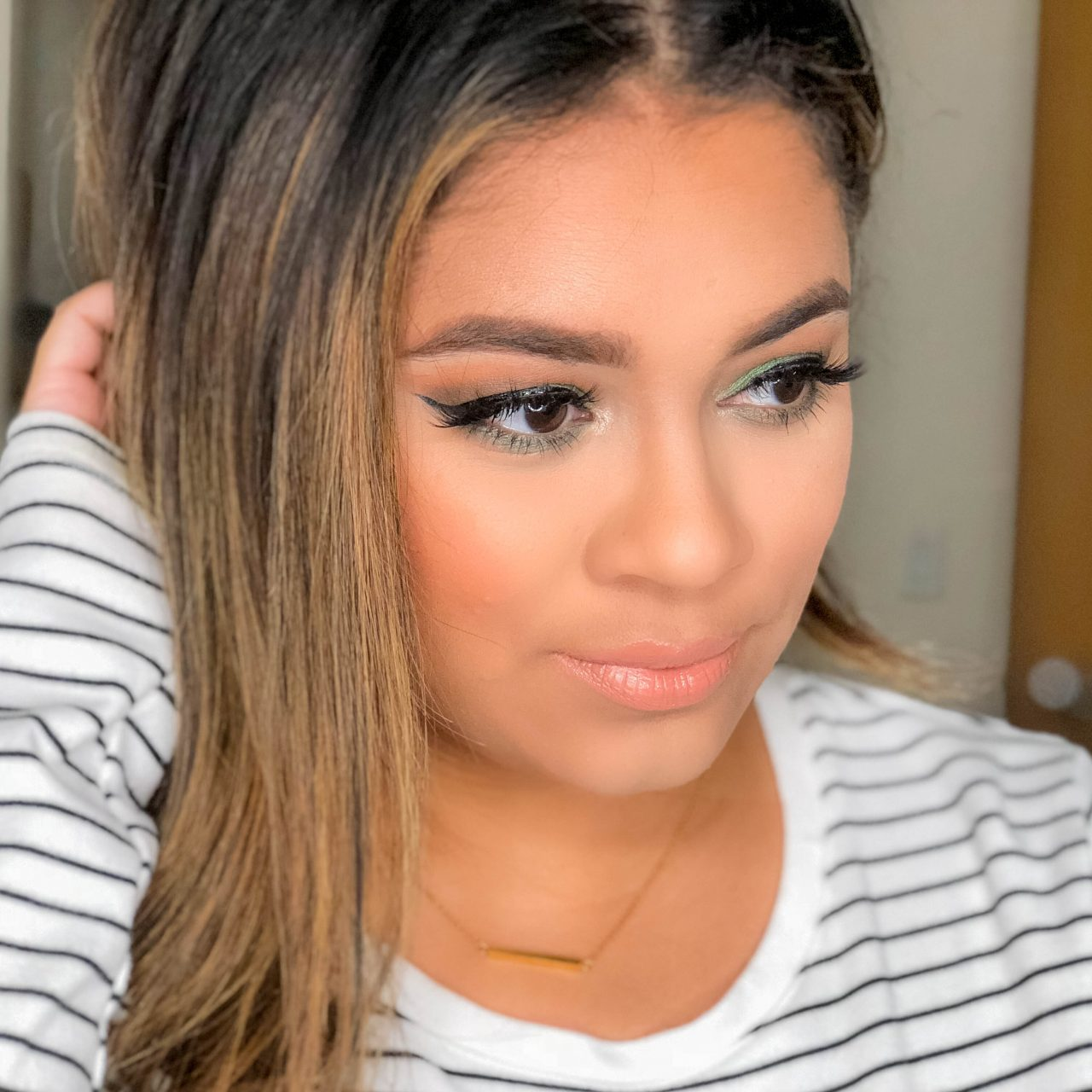 Olive Green Eye Look Using the Urban Decay Elements Palette