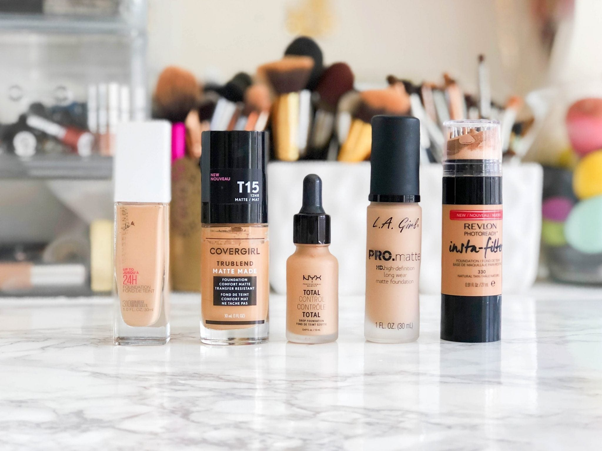 Top 5 Medium To Full Coverage Drugstore Foundations Jasmine Maria
