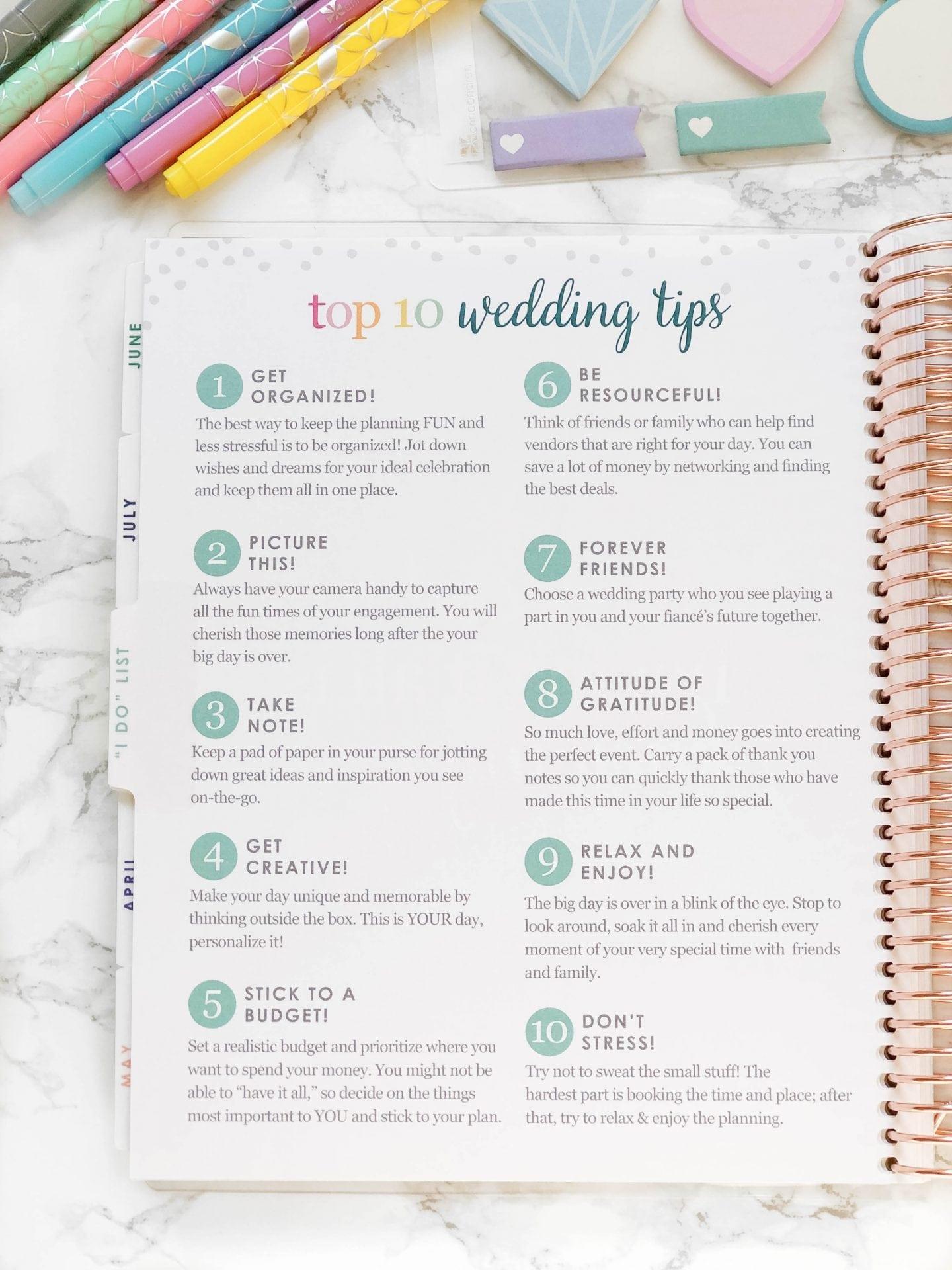 Erin Condren Wedding Planner