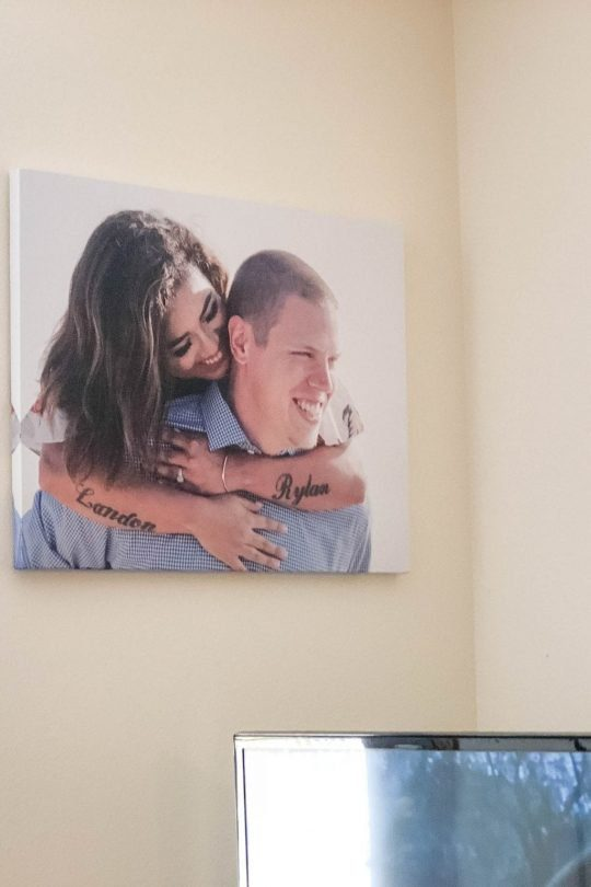 Displaying Your Engagement Photos (Or Any Photos) In Your Home with CanvasChamp