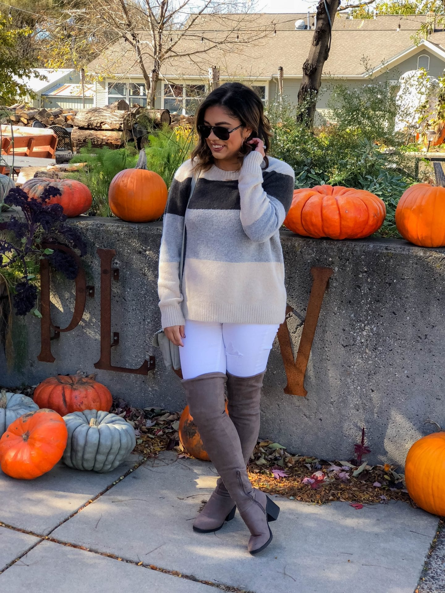 Cozy Autumn Colors - Oversized Fuzzy Sweater
