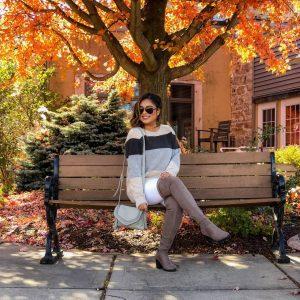 Cozy Autumn Colors - Oversized Fuzzy Sweater