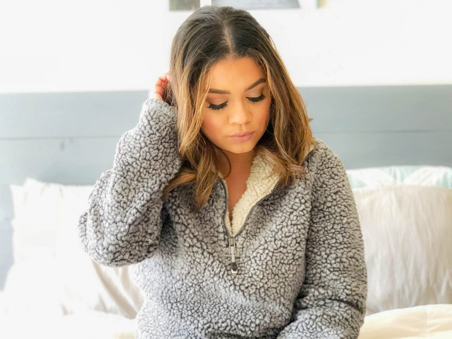 Cozy Sherpa Pullover Sweaters Under $50