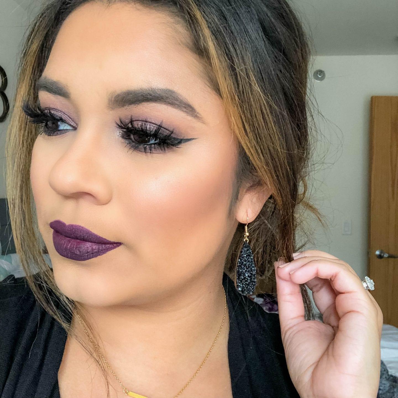 Dark Vampy Fall Makeup Look
