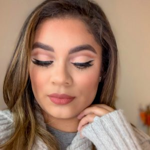 Orange Cut Crease Makeup Look