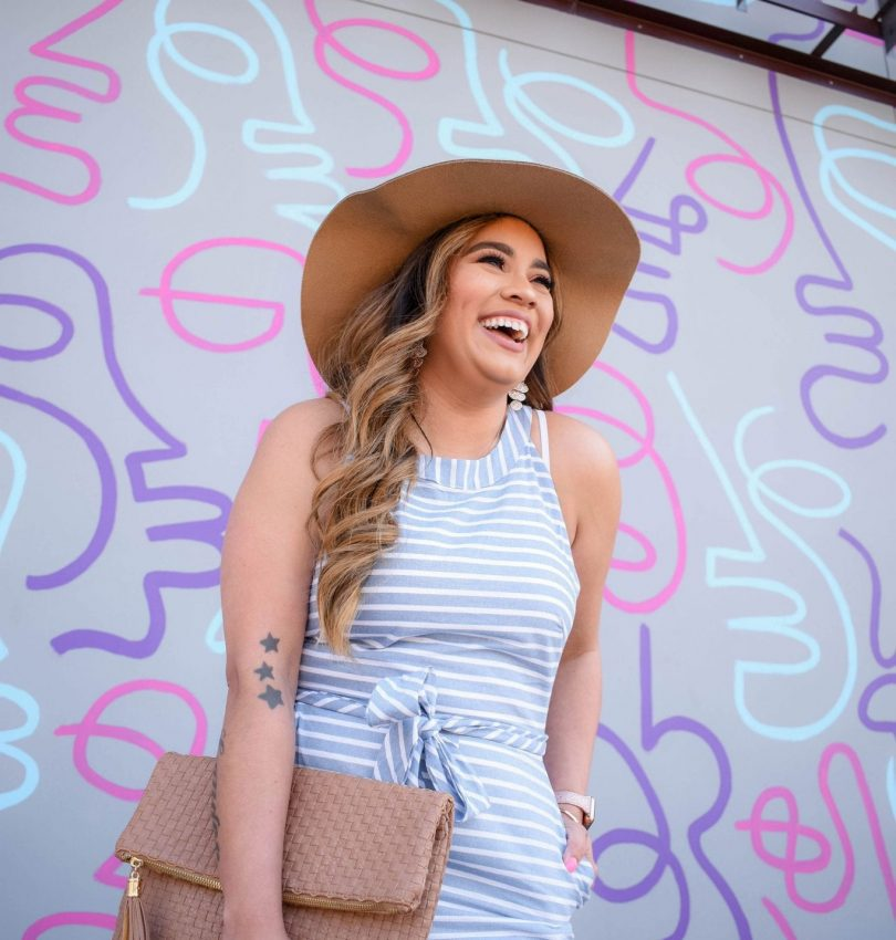 Mother's Day Striped Jumpsuit