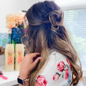 Easy Half Up Messy Bun Tutorial