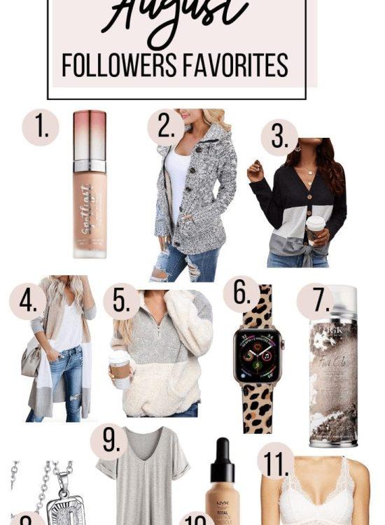 August Followers Favorites