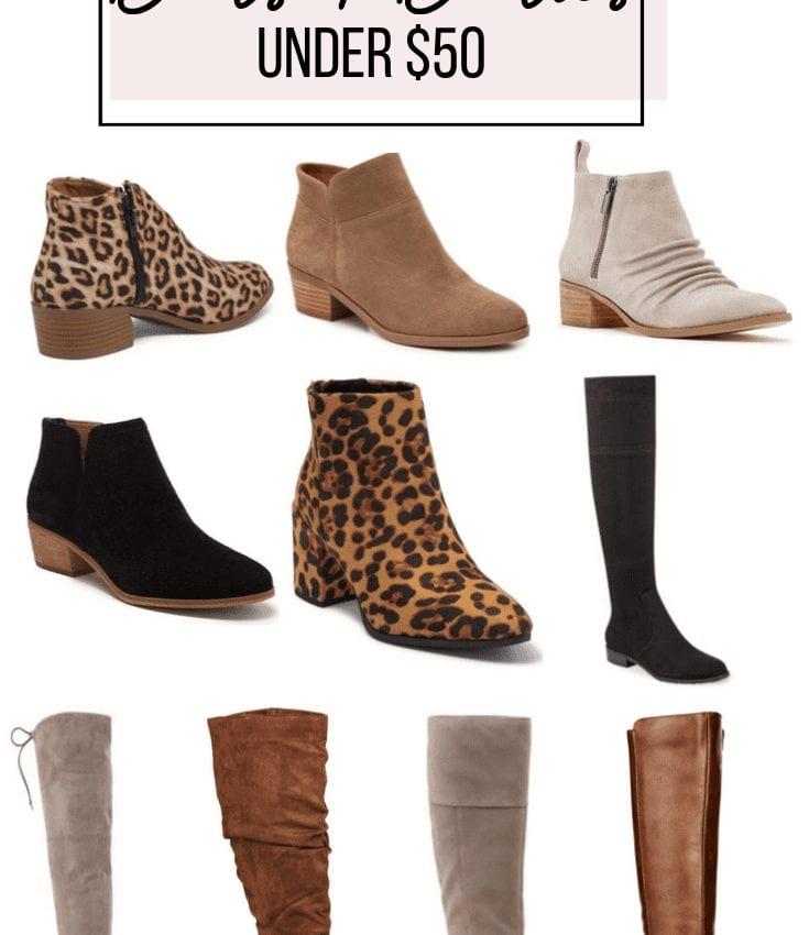 Booties & Boots Under $50