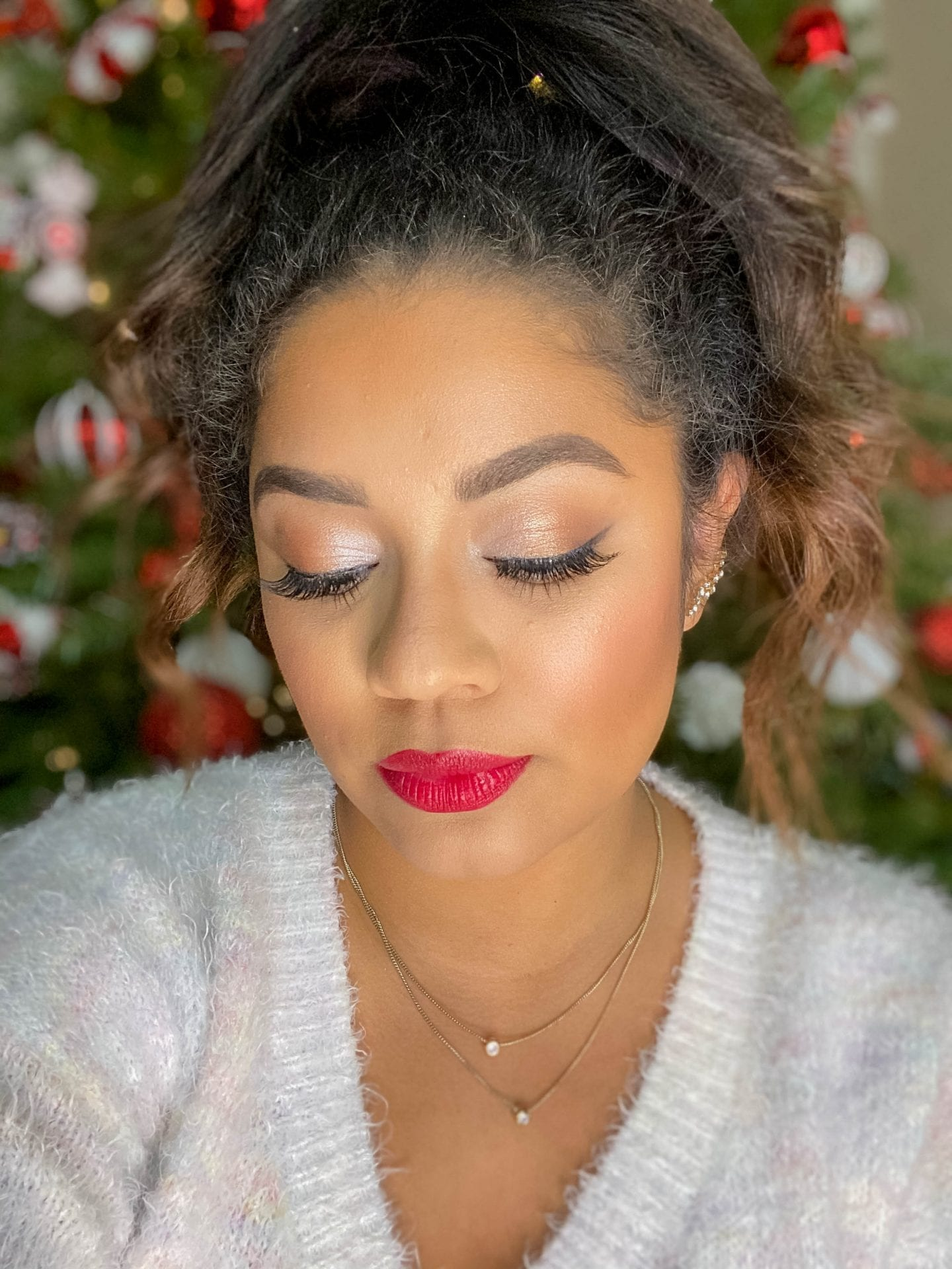 Classic Christmas Makeup Look