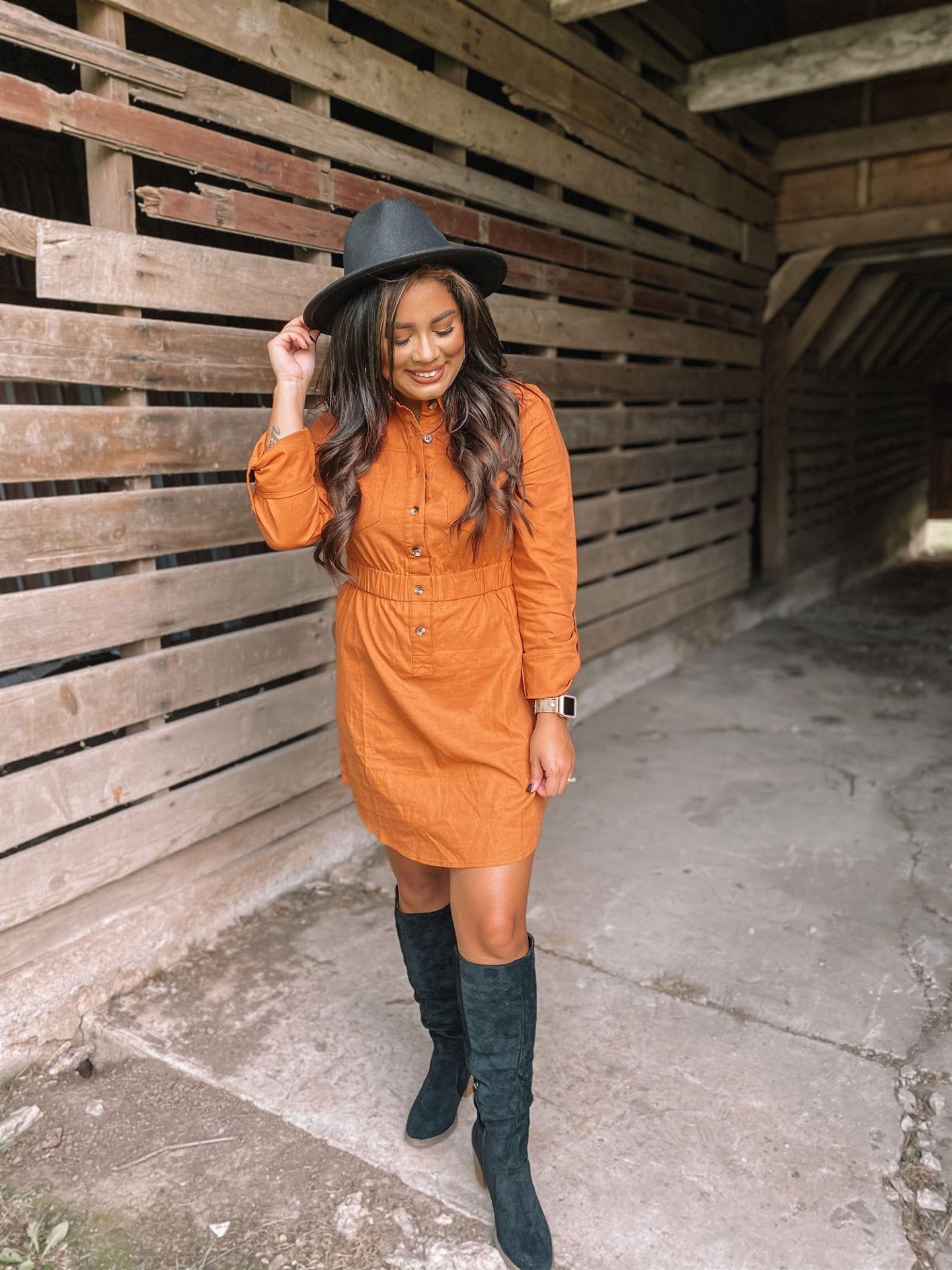 Fall Fashion Rust Dress