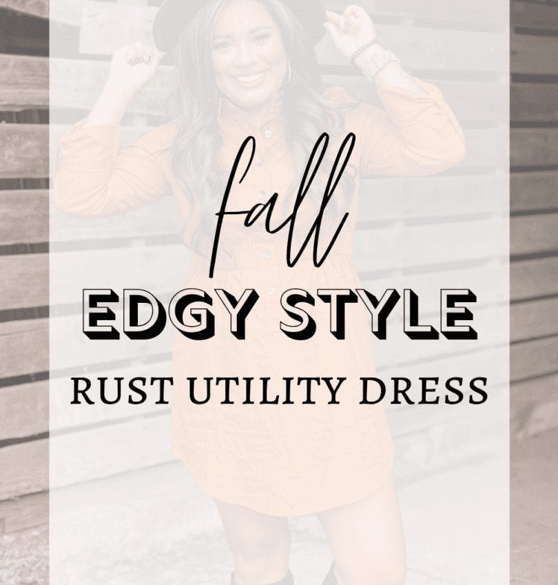 Fall Fashion - Rust Utility Dress