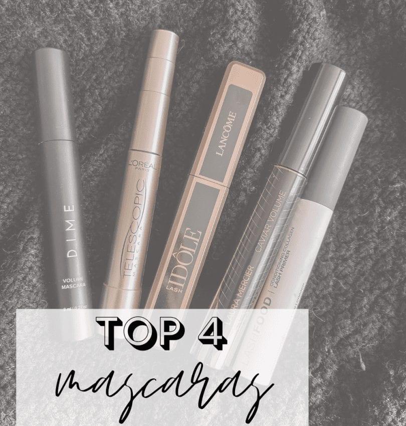 Top 4 Current Mascaras I'm Loving