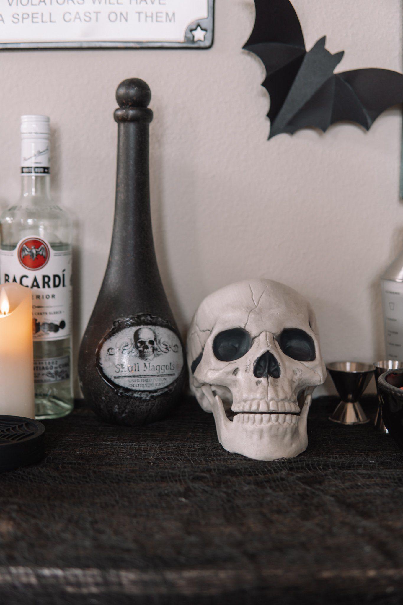 Halloween Bar Cart